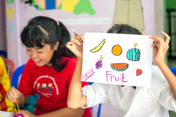 Citra with her fruit painting